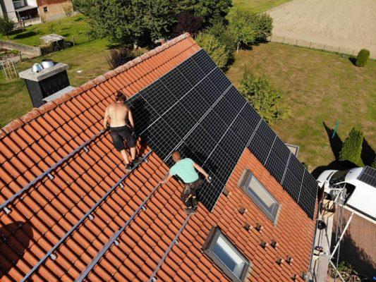 Modulmontage für eine Photovoltaikanlage