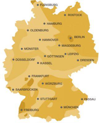 Sonnenstunden in Deutschland